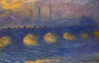 Мост Vaterloo - пасмурная погода