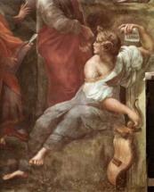 Станца делла Сеньятура.Фреска Парнас.Фрагмент Сафо