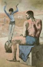 Пабло Пикассо. Девочка на шаре. 1905