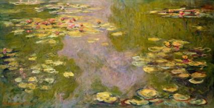 Пруд с водяными лилиями