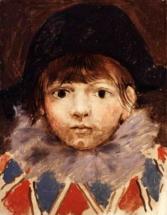 Сын художника в костюме Арлекина ( портрет Пауло )
