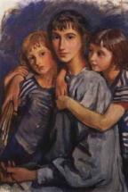 Автопортрет с дочерьми