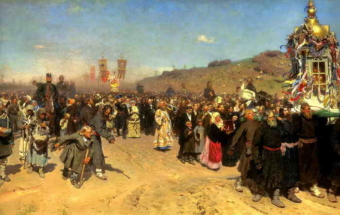 Илья Репин - Крестный ход в Курской губернии