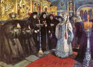 посещение царевны женского монастыря