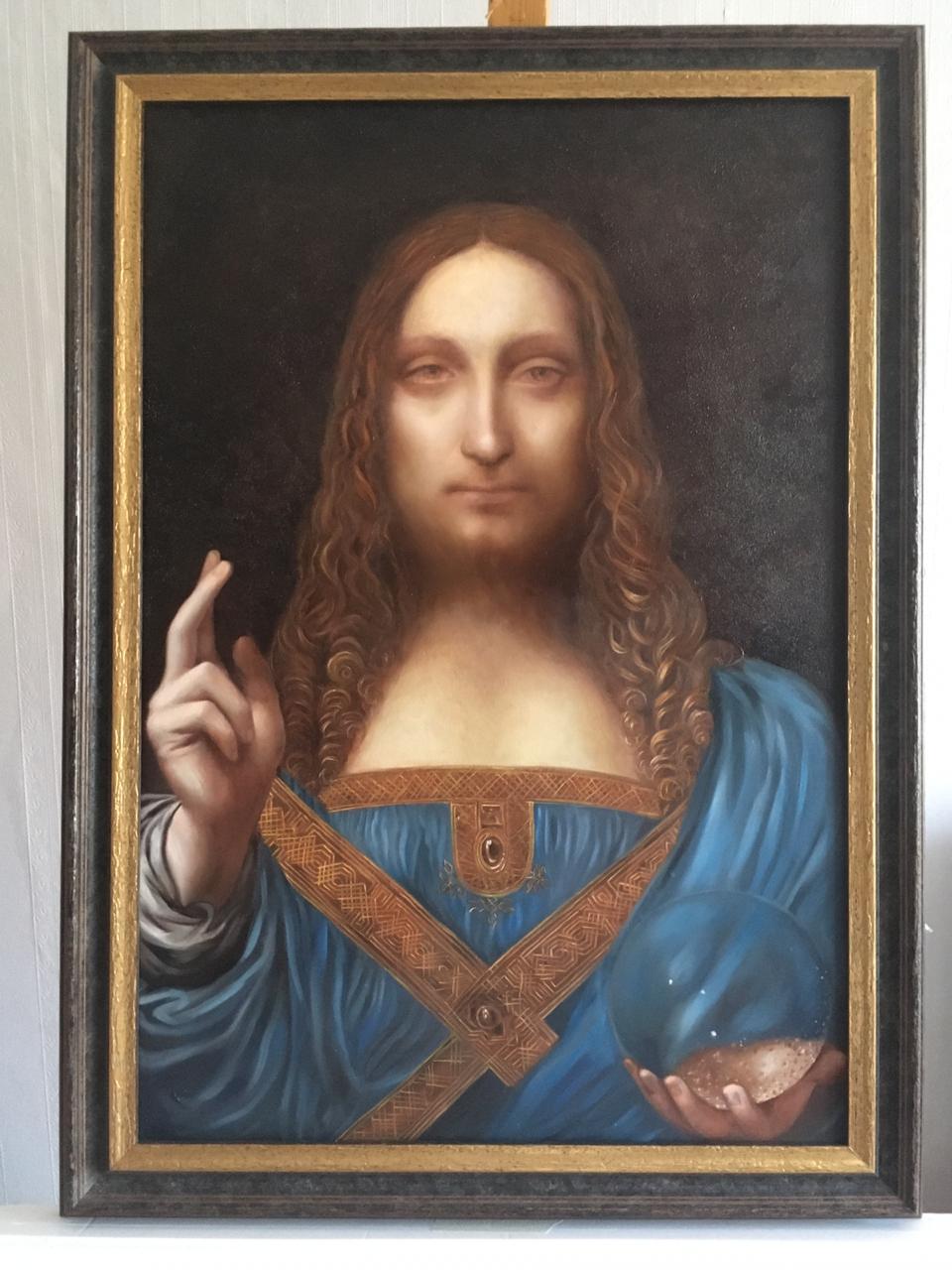 Спаситель Мира - копия картины Леонардо Да Винчи